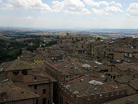 Siena and beyond from the facade of Nuovo Duomo