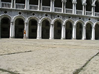 in the courtyard of Palazzo Ducale