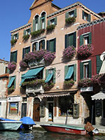 colorful Murano buildings