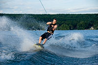 Joe wakeboarding