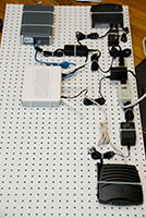 pegboard for network equipment